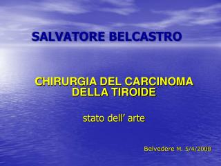 SALVATORE BELCASTRO