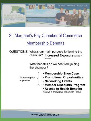 St. Margaret s Bay Chamber of Commerce Membership Benefits