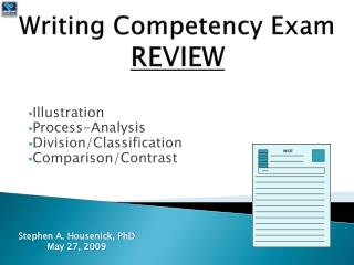 Writing Competency Exam REVIEW