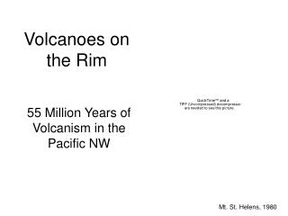 Volcanoes on the Rim