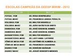ESCOLAS CAMPE S DA OEESP MIRIM - 2012
