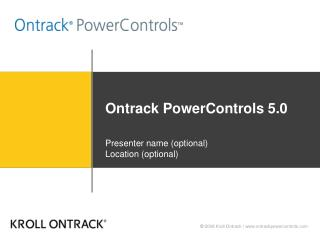 Ontrack PowerControls 5.0