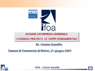 IFOA - Cosimo Scarafile