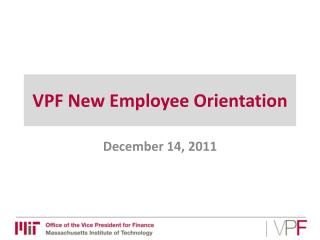 VPF New Employee Orientation