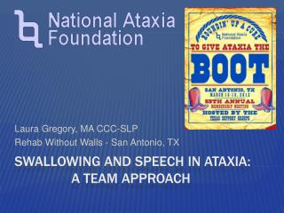 Swallowing and Speech in Ataxia:    a Team Approach