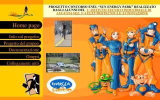 PROGETTO CONCORSO ENEL  SUN ENERGY PARK  REALIZZATO DAGLI ALUNNI DEL  2  ISTITUTO TECNICO INDUSTRIALE DI AUGUSTA SEZ. 5