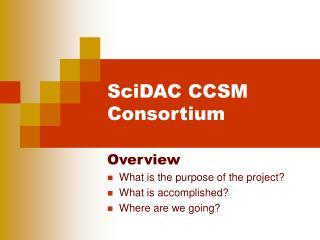SciDAC CCSM Consortium
