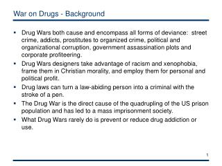War on Drugs - Background