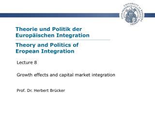 Theorie und Politik der  Europ ischen Integration