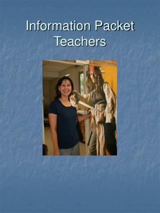 Information Packet Teachers