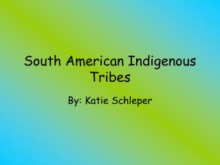 South American Indigenous Tribes