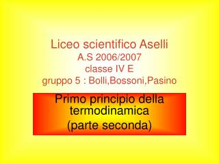 Liceo scientifico Aselli A.S 2006