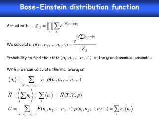 Bose-Einstein distribution function