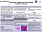 Development of Histology Teaching Modules Jennifer M. McBride, PhD  and Bishar Tarabishy Cleveland Clinic Lerner College