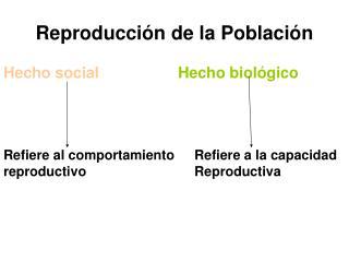 Reproducci n de la Poblaci n