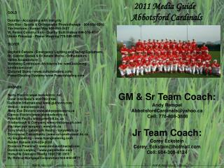 2011 Media Guide   Abbotsford Cardinals