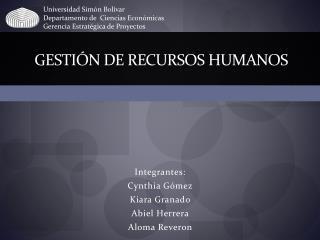 Gesti n de recursos humanos