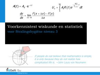 Voorkennistest wiskunde en statistiek