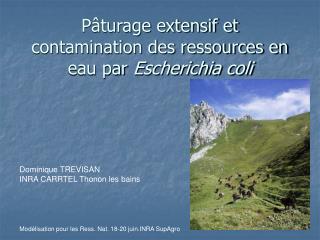 P turage extensif et contamination des ressources en eau par Escherichia coli