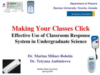 Making Your Classes Click  Effective Use of Classroom Response System in Undergraduate Science