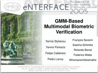 GMM-Based Multimodal Biometric Verification