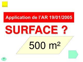 Application de l AR 19