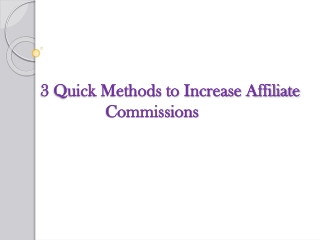 Get Quick Commission  Review