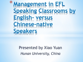 What Do Native Teachers Think of the English Used by Chinese Students