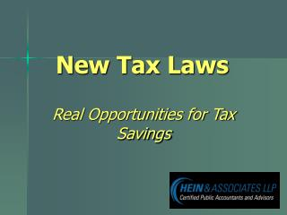 New Tax Laws