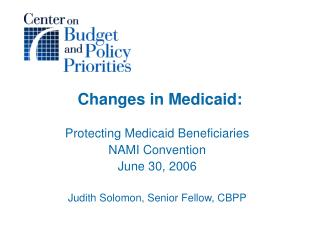 Changes in Medicaid: