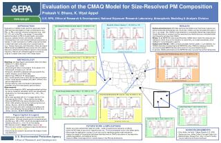 Evaluation of the CMAQ Model for Size-Resolved PM Composition