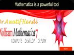 Mathematica is a powerful tool
