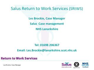 Salus Return to Work Services SRtWS