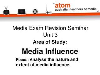 Media Exam Revision Seminar Unit 3