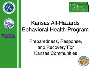Kansas All-Hazards Behavioral Health Program