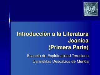 Introducci n a la Literatura Jo nica Primera Parte