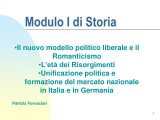 Modulo I di Storia