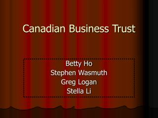 Canadian Business Trust