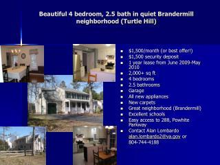 Beautiful 4 bedroom, 2.5 bath in quiet Brandermill neighborhood Turtle Hill