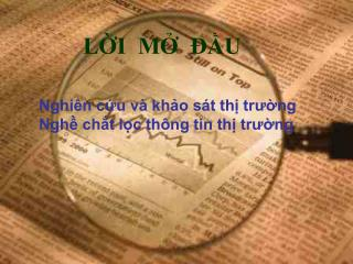 Nghi n cu v  kho s t th trung Ngh cht lc th ng tin th trung