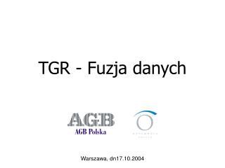 TGR - Fuzja danych