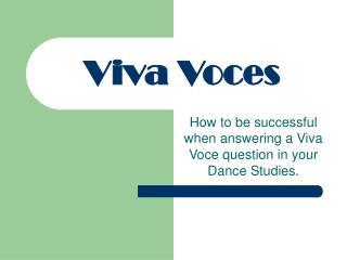 Viva Voces