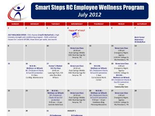Smart Steps RC Employee Wellness Program July 2012
