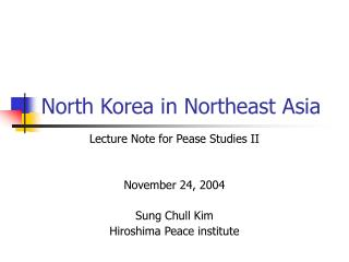 North Korea in Northeast Asia