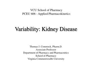 Variability: Kidney Disease