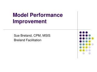 Model Performance Improvement