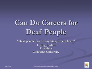 Can Do Careers for  Deaf People