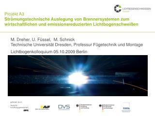 Projekt A3 Str mungstechnische Auslegung von Brennersystemen zum wirtschaftlichen und emissionsreduzierten Lichtbogensch