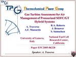 Gas Turbine Assessment for Air Management of Pressurized SOFC