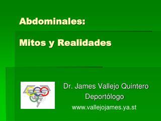 Abdominales:  Mitos y Realidades